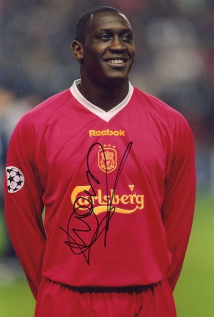 Emile Heskey, Liverpool & England, signed 12x8 inch photo. (2)